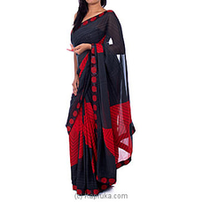 Red And Black Georgette Saree By NA at Kapruka Online forspecialGifts