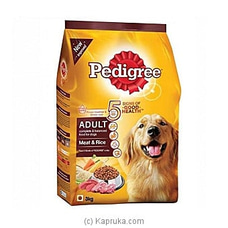 Pedigree Dog Food - Meat And Rice (3KG) - Limit 1 Per Customer at Kapruka Online