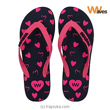 Waves Flip Flop For Ladies (Pink Hearts)- By Waves at Kapruka Online for specialGifts