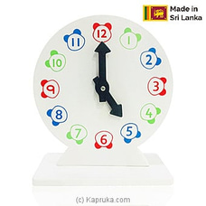 Kid`s Wooden Round Clock By Sarvodaya at Kapruka Online for specialGifts