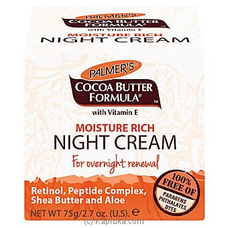 Cocoa Moisture Rich NIGHT Cream by Palmer`s 75g By Palmers at Kapruka Online for specialGifts