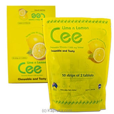 Cee Chewable Vitamin C- Lime N Lemon- 50 Strips Of 2 Tablets By NA at Kapruka Online for specialGifts