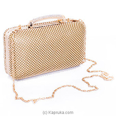 Clutch- Trendy Golden Evening Ladies Clutch By NA at Kapruka Online for specialGifts