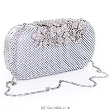 Clutch- Glamourous Silver Evening Ladies Clutch By NA at Kapruka Online for specialGifts