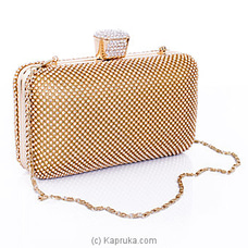 Clutch- Golden Spot-Light Evening Ladies Clutch By NA at Kapruka Online for specialGifts