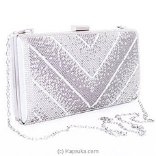 Clutch- Silver Evening Fashion Ladies Clutch By NA at Kapruka Online for specialGifts