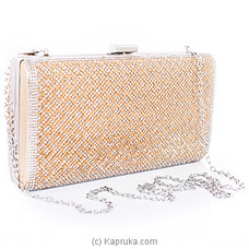 Clutch- Chic Golden Ladies Clutch By NA at Kapruka Online for specialGifts