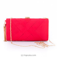Clutch- Red In Style Evening Ladies Clutch By NA at Kapruka Online for specialGifts