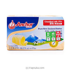 Anchor Unsalted Butter- 227g By Anchor at Kapruka Online for specialGifts