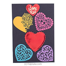 Handmade I Love You Greeting Card By NA at Kapruka Online for specialGifts