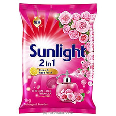 Sunlight Detergent Powder- 2 In 1 Clean And Rose Fresh- 1 KG at Kapruka Online