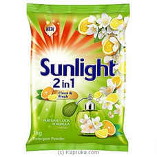 Sunlight Detergent Powder- 2 In 1 Clean And Fresh- 1 KG at Kapruka Online