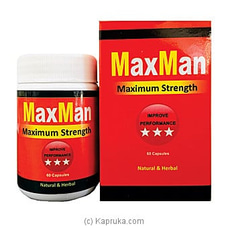 MaxMan Maximum Strength- 60 Capsules By Boost at Kapruka Online for specialGifts