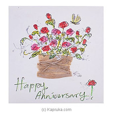 Hand Painted Happy Anniversary Greeting Card at Kapruka Online