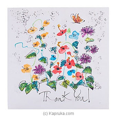 Hand Painted Thank You Greeting Cardat Kapruka Online for specialGifts