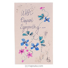 Hand Painted With Deepest Sympathy Greeting Card By NA at Kapruka Online for specialGifts