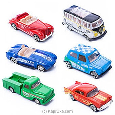 Diecast Metal Toy Cars- 6 Pieces By Brightmind at Kapruka Online for specialGifts