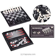 3 In 1 Family Game- Chess, Checkers, Backgammon By Brightmind at Kapruka Online forspecialGifts