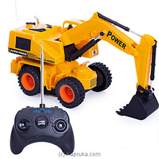 Kid`s Radio Controlled Truck- Backhoe By Brightmind at Kapruka Online for specialGifts