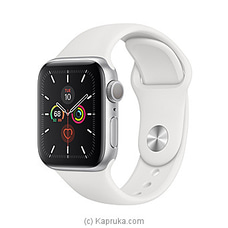 Apple Watch Series 5 - 40mm Silver Aluminum GPS ? White Sport Band at Kapruka Online