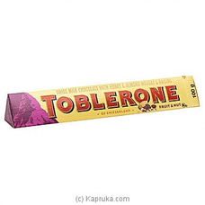 Toblerone Fruit And Nut Chocolate 100gat Kapruka Online for specialGifts