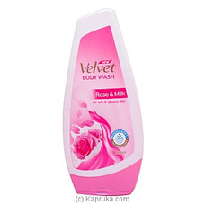 Velvet Body Wash Rose And Milk 250ml By Velvet at Kapruka Online for specialGifts