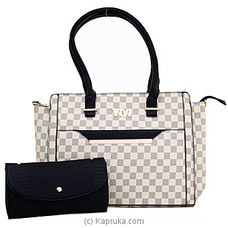 Checkered Faux Handbag By NA at Kapruka Online for specialGifts