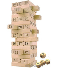 48 Pieces Wooden Blocks Stacking Building Tower at Kapruka Online
