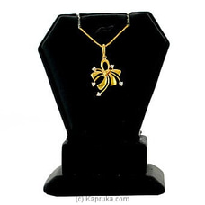 Swarnamahal 22kt yellow gold studded pendant with c/Z- PE0001529 at Kapruka Online