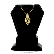Swarnamahal 22kt yellow gold studded pendant with c/Z- PE0001516 at Kapruka Online
