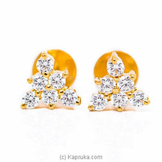 Vogue 22K Gold Ear Stud Set With 12 (c/z) Rounds By Vogue at Kapruka Online for specialGifts