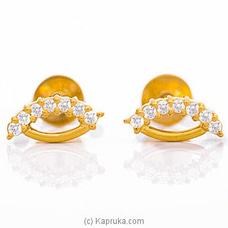 Vogue 22K Gold Ear Stud Set With 14 (c/z) Rounds By Vogue at Kapruka Online for specialGifts