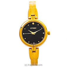 Citizen Ladies Gold Watch With Black Dial at Kapruka Online