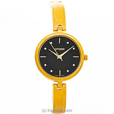 Citizen Ladies Gold Watch With Black Dial By Citizen at Kapruka Online for specialGifts
