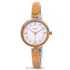 Citizen Ladies Rose Gold And Silver Watch By Citizen at Kapruka Online for specialGifts