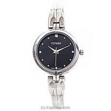 Citizen Ladies Silver Watch With Black Dial By Citizen at Kapruka Online for specialGifts