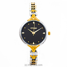 Citizen Ladies Gold And Silver Watch  With Black Dial By Citizen at Kapruka Online for specialGifts