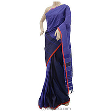 Purple Handloom Glossy Cotton Saree With Red Border-G0505 By Cotton Weavers at Kapruka Online for specialGifts
