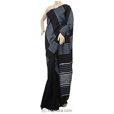 Black And Gray Handloom Saree-C1316 By Cotton Weavers at Kapruka Online for specialGifts