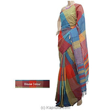 Multicolor Cotton Handloom Saree By Cotton Weavers at Kapruka Online for specialGifts