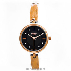 Citizen Ladies Rose Gold And Silver Watch With Black Dial By Citizen at Kapruka Online for specialGifts