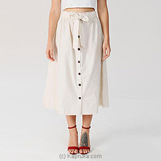 Cameo White-Self Tie Linen Skirt By Miika at Kapruka Online for specialGifts
