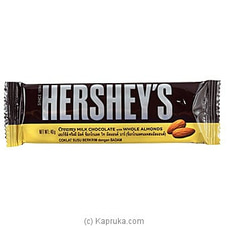 Hershey`s Creamy Milk Chocolate With Whole Almonds 40g By Hershey at Kapruka Online for specialGifts