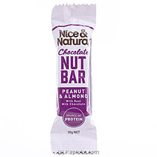 Nice And Natural Chocolate Nut Bar- Peanut And Almond 30g at Kapruka Online