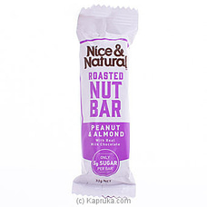 Nice And Natural Roasted Nut Bar- Peanut And Almond 32g at Kapruka Online