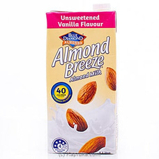 Blue Diamond Almond Breeze- Unsweetened Vanilla Flavour Almond Milk 1L By Blue Diamond|Globalfoods at Kapruka Online for specialGifts