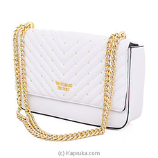 Victoria Secret Studded V-Quilt Bond Street Shoulder Bag White By Victoria Secret at Kapruka Online for specialGifts