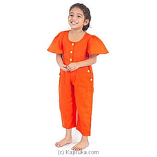 Frilled Sleeves Jump Suit Orange-LJS001 By LISHE at Kapruka Online for specialGifts
