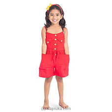 Trendy short jumpsuit Red-LJS004 By LISHE at Kapruka Online for specialGifts