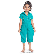 Fashionable jumpsuit Dark Cyan-LJS005 By LISHE at Kapruka Online for specialGifts